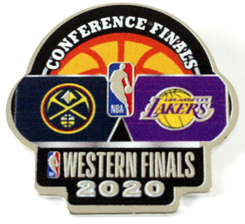 NBA 2020 Western Conference Finals Dueling Pin - Nuggets vs. Lakers