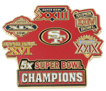 San Francisco 49ers 5-Time Super Bowl Champions Pin - Limited 1,000