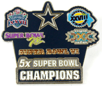 Dallas Cowboys 5-Time Super Bowl Champions Pin - Limited 1,000