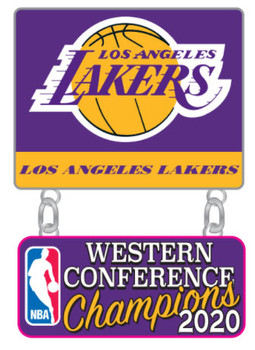 Los Angeles Lakers 2020 Western Conference Champions Dangler Pin