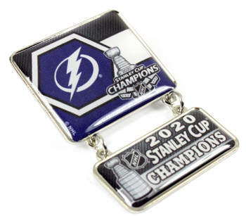 Tampa Bay Lightning 2020 Stanley Cups Champs Dangler Pin