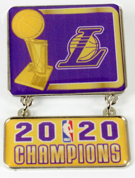 Los Angeles Lakers 2020 NBA Champs Double Pin - Dangle Style