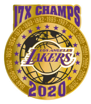 Los Angeles Lakers 2020 17-Time NBA Champs Pin