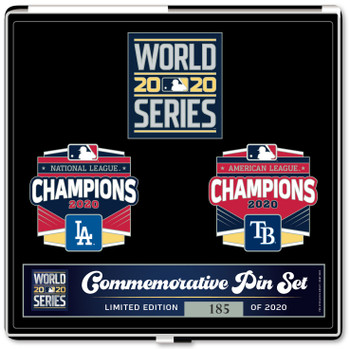2020 World Series Pin Set - Dodgers vs. Rays - Limited 2,020