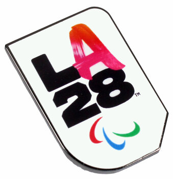 "Los Angeles 2028 Olympics Street Food ""A"" Logo Pin"