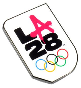 "Los Angeles 2028 Olympics Graffiti ""A"" Logo Pin"
