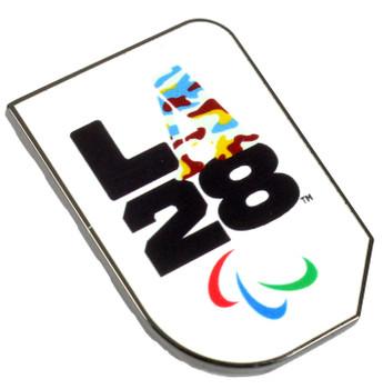 """Los Angeles 2028 Olympics Camo """"A"""" Logo Pin"""