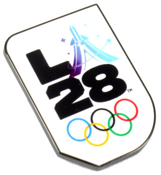 """Los Angeles 2028 Olympics Space Travel """"A"""" Logo Pin"""