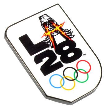 """Los Angeles 2028 Olympics Skateboarding """"A"""" Logo Pin"""