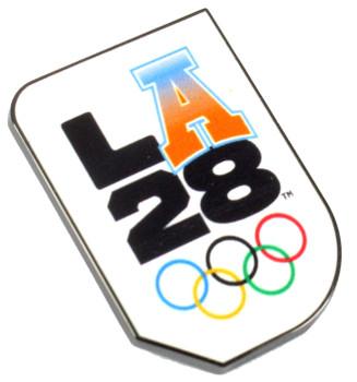 """Los Angeles 2028 Olympics Varsity """"A"""" Logo Pin"""