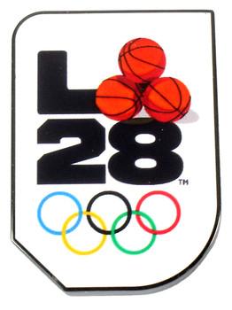 "Los Angeles 2028 Olympics Basketball ""A"" Logo Pin"