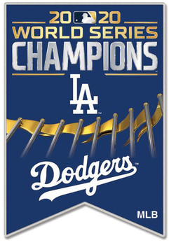 Los Angeles Dodgers 2020 World Series Champs Banner Pin