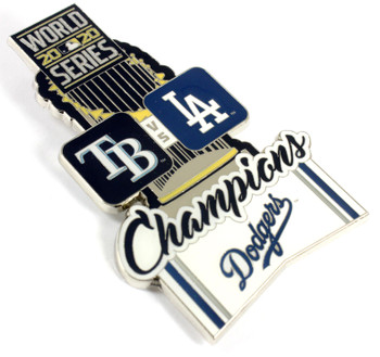 "Los Angeles Dodgers 2020 World Series Champs 3"" Grande Pin"