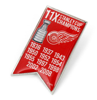 Detroit Red Wings 11-Time Stanley Cup Champs Pin