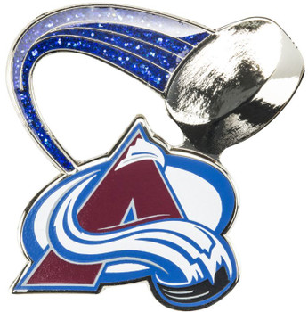 Colorado Avalanche Glitter Trail Pin