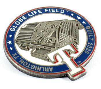 Texas Rangers Globe Life Field Pin - Arlington, TX / Built 2020 - Limited 1,000