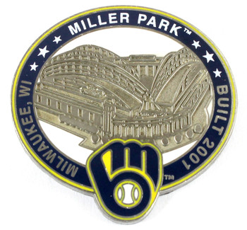 Milwaukee Brewers Miller Park Pin - Milwaukee, WI / Built 2001- Limited 1,000