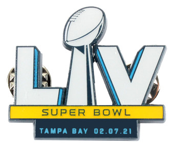 Super Bowl LV (55) Logo Pin