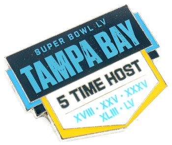 Super Bowl LV (55) Tampa Bay 5-Time Host Pin
