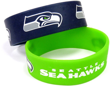Seattle Seahawks Wide Wristbands (2 Pack)