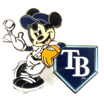 Tampa Bay Rays Mickey Mouse Home Plate Pin