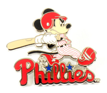 Philadelphia Phillies Mickey Mouse Slugger Disney Pin