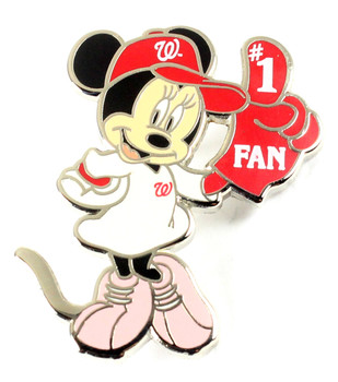 Washington Nationals Minnie Mouse #1 Fan Disney Pin