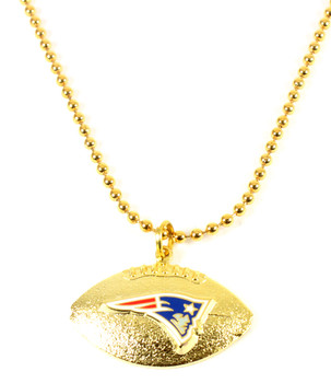 New England Patriots Football Necklace