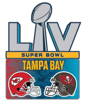 Super Bowl LV (55) Dueling Pin - Chiefs vs. Buccaneers Pin