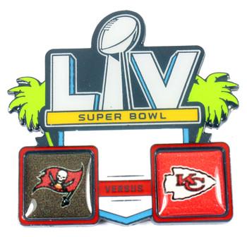 Super Bowl LV (55) Head To Head Pin - Buccaneers vs. Chiefs