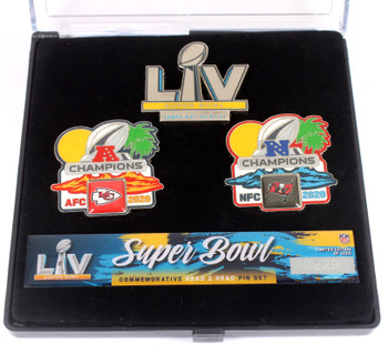 Super Bowl LV (55) Head To Head Pin Set - Chiefs vs. Bucs - Limited 5,000