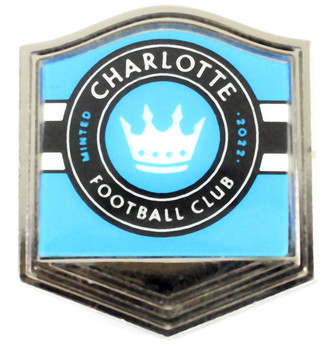 Charlotte Football Logo Pin