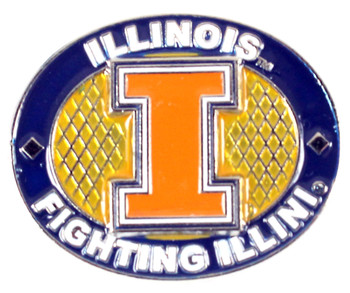Illinois Fighting Illini Oval Pin