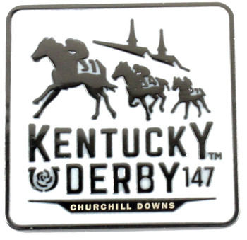 2021 Kentucky Derby 147th Logo Pin - White