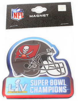 Tampa Bay Buccaneers Super Bowl LV (55) Champions MAGNET - 3""