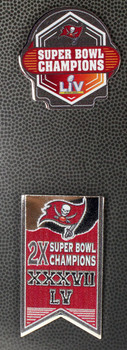 Tampa Bay Buccaneers Super Bowl LV (55) Two Pin Set
