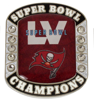 Tampa Bay Buccaneers Super Bowl LV (55) Champs Rhinestone Ring Pin