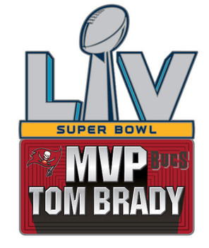 Tom Brady Super Bowl LV (55) MVP Pin