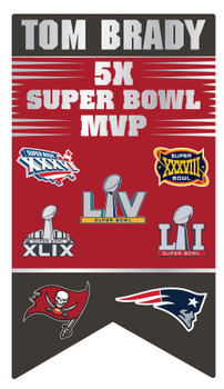 Tom Brady 5-Time Super Bowl MVP Pin