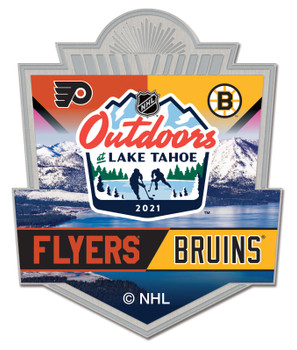 NHL Outdoors At Lake Tahoe Dueling Pin - Flyers vs. Bruins