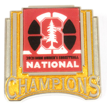 Stanford Cardinals 2021 Women's Final Four Champs Trophy Pin