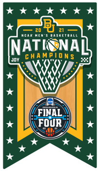Baylor Bears 2021 Men's Final Four Champs Banner Pin