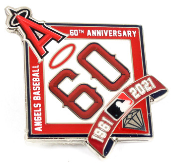 Los Angeles Angels 60th Anniversary Pin - 1961-2021 - Limited 500