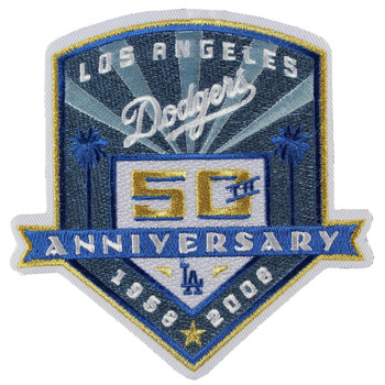 Los Angeles Dodgers 50th Anniversary Patch