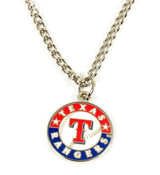 Texas Rangers Round Logo Necklace