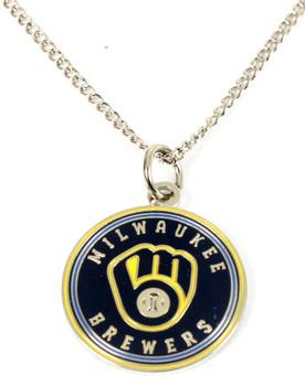 Milwaukee Brewers Round Logo Necklace