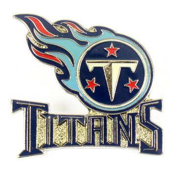 Tennessee Titans Logo w/ Wordmark Pin