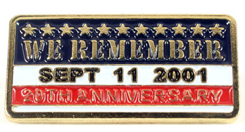 We Remember - September 11th Twentieth Anniversary Pin - Gold