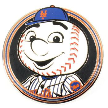 New York Mets Mr. Met Mascot Pin - Round