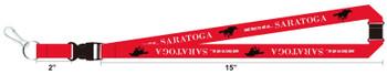 Saratoga Racing Breakaway and Detachable Key Chain Lanyard